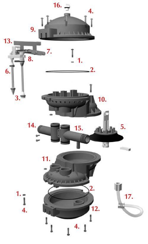 Chemilizer HN55 Medicator Parts List